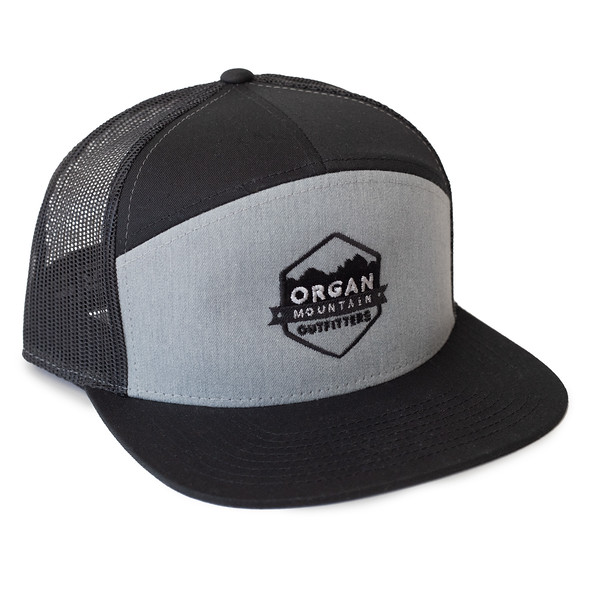 Organ Mountain Outfitters - Outdoor Apparel - Hat - 7 Panel Trucker Cap - Heather Grey Black.jpg
