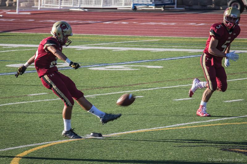 Oaks Christian Player kicks off