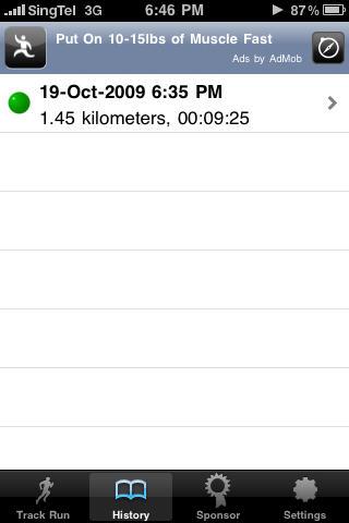 Runkeeper Data after a run