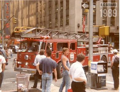 Apparatus Shoot - FDNY, Manhattan, NY - August 1989