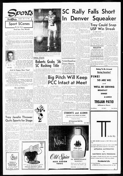 Daily Trojan, Vol. 48, No. 61, December 18, 1956
