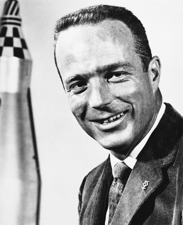 . Malcolm Scott Carpenter in May 1961, a Lieutenant commander in the U.S. Navy,  (AP Photo)
