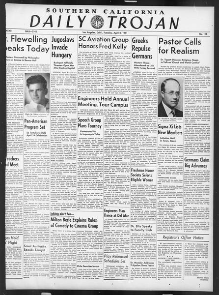 Daily Trojan, Vol. 32, No. 118, April 08, 1941