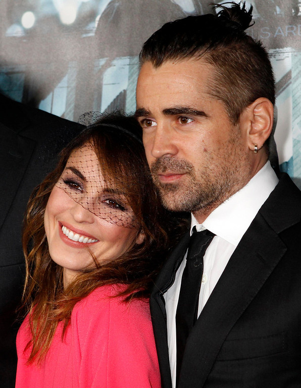 """. Swedish actress Noomi Rapace and Irish actor Colin Farrell pose at the premiere of their new film \""""Dead Man Down\"""" in Hollywood February 26, 2013. REUTERS/Fred Prouser"""