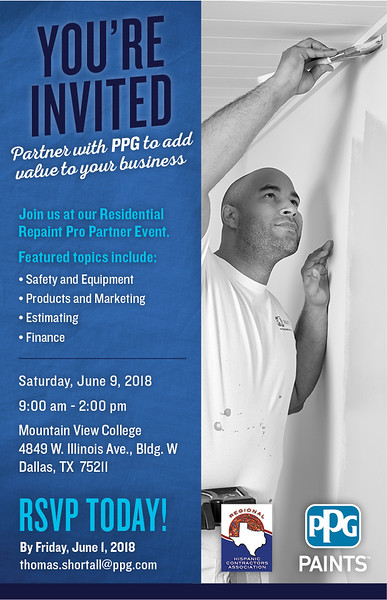 PPG Paints Residential Repaint Pro Partner Event 06 09 18