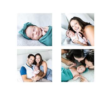 Newborn baby photographs at home in La Jolla San Diego