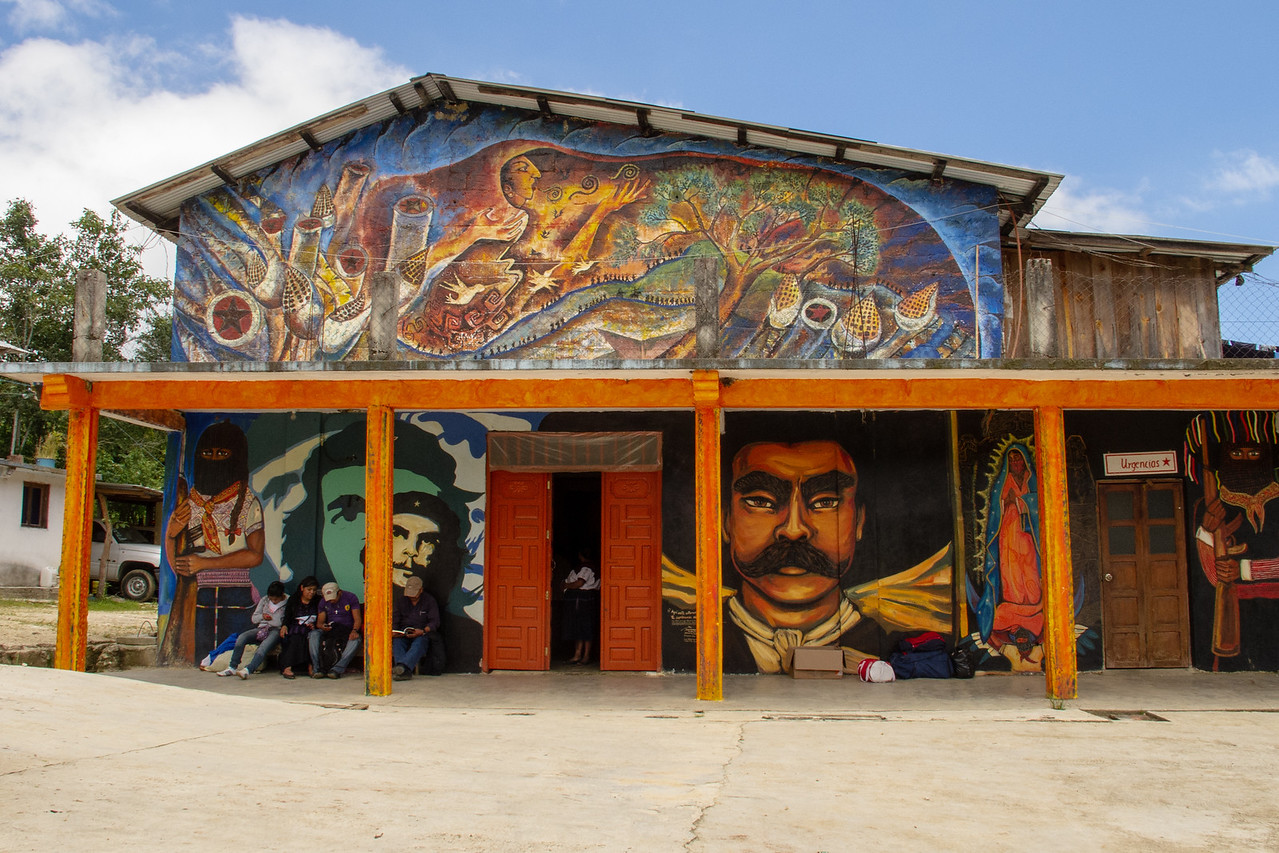 Zapatista Art on the Medical Clinic in Oventic