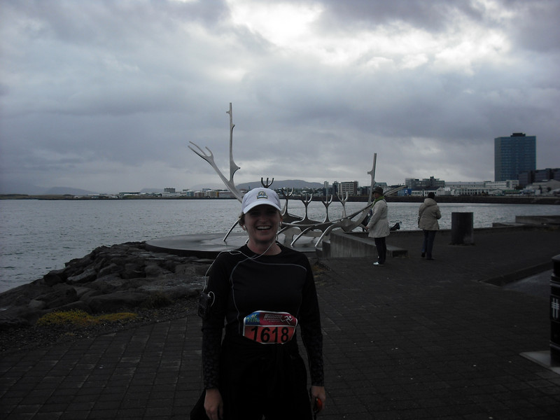 During the half-marathon.