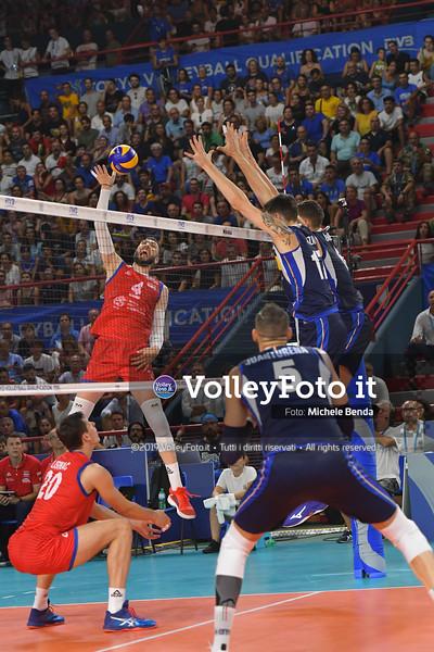 ITALIA vs SERBIA, 2019 FIVB Intercontinental Olympic Qualification Tournament - Men's Pool C IT, 11 agosto 2019. Foto: Michele Benda per VolleyFoto.it [riferimento file: 2019-08-11/ND5_7229]