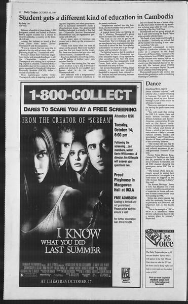 Daily Trojan, Vol. 132, No. 31, October 13, 1997