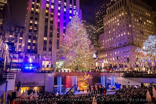 The 2013 Rockefeller Center Tree Lighting in New York City