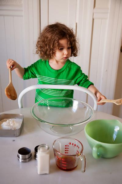Preparing to Mix Ingredients
