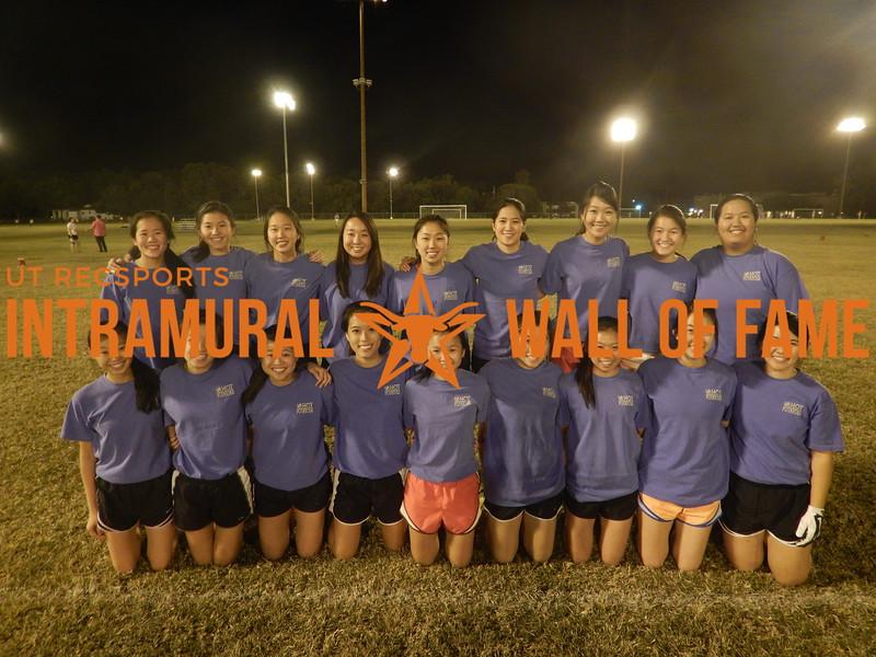 Fall 2015 Flag Football  Women's Runner Up  The Hot Potatoes