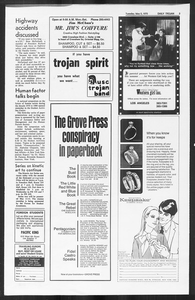 Daily Trojan, Vol. 61, No. 118, May 05, 1970