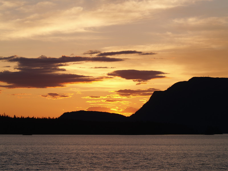 Sunset over Fritz Cove