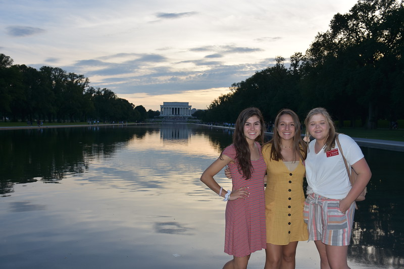 WYT 2019. Lincoln Memorial evening.