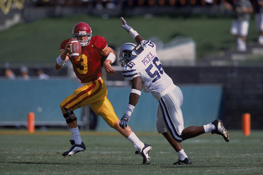 . 8. Terry Pierce, LB, Kansas State, 2003 Second round, No. 51 overall: Pierce had eight tackles and no starts through his first two seasons. He was cut before his third season and never played again. (Donald Miralle/Allsport)