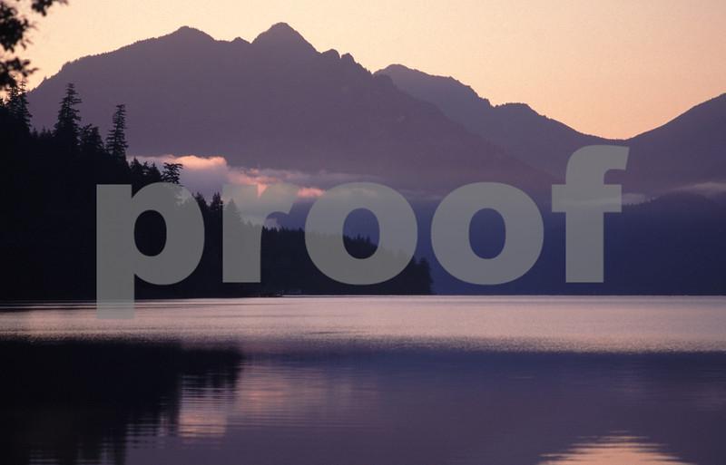 Lake Crescent sunset.
