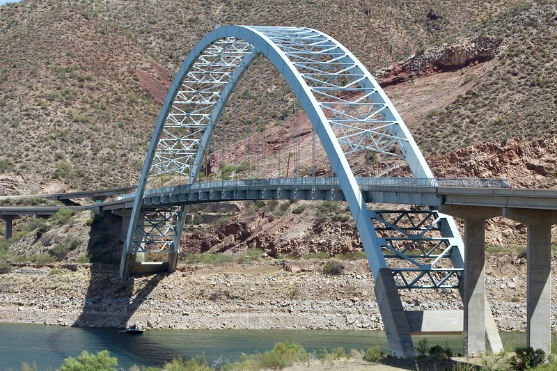 Roosevelt Lake Bridge on State Route 188 (2018)