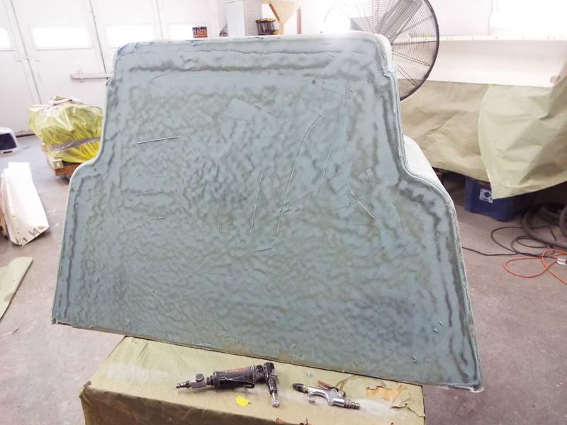 Front ready to sand before priming.