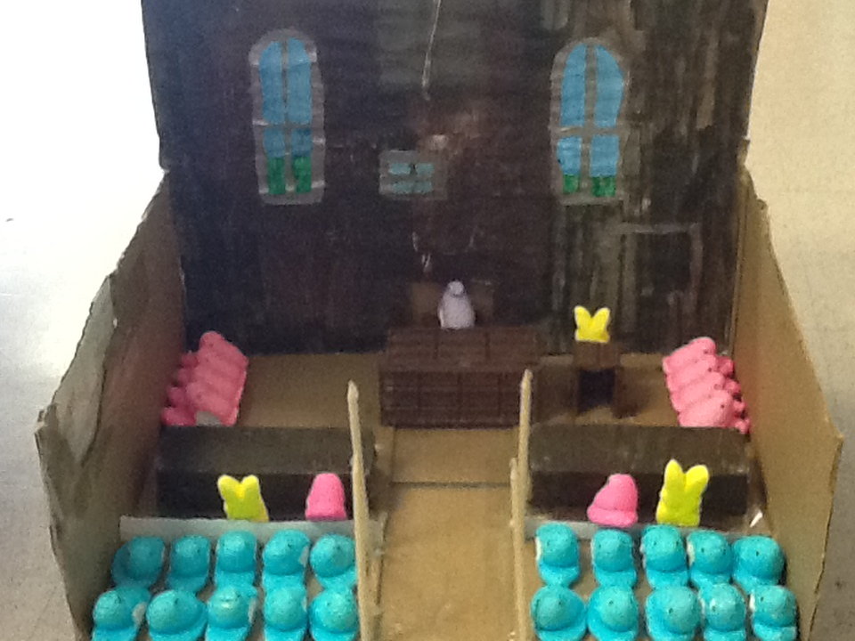 """. \""""Peeps on Trial,\"""" by Rebecca Slaby"""