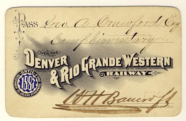 D&RGW Railway 1887