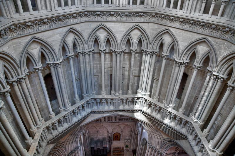 Coutances, Notre-Dame Cathedral Lantern Triforium