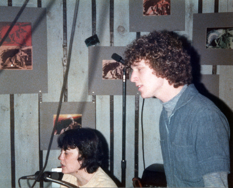 Shirley Lebin, Dan Sechler, at Lebin studio, Passing Through II rehearsals, Spring 1978.