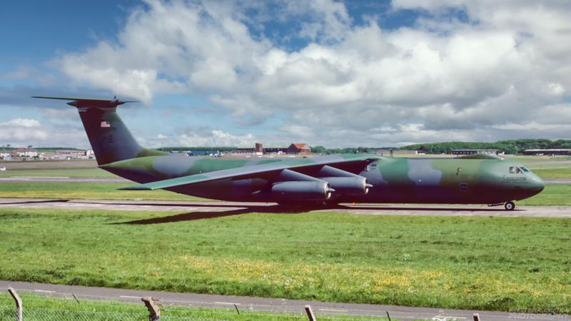 67-0002. Lockheed C-141B. USAF. Prestwick. 1980`s.