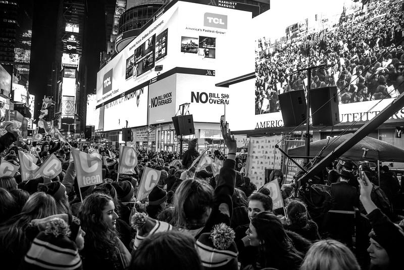 C-Teen Shabbaton Times Square kids from around the world0016.JPG