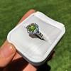 2.48ctw Yellow-Green Round Brilliant Diamond Cluster Ring 14