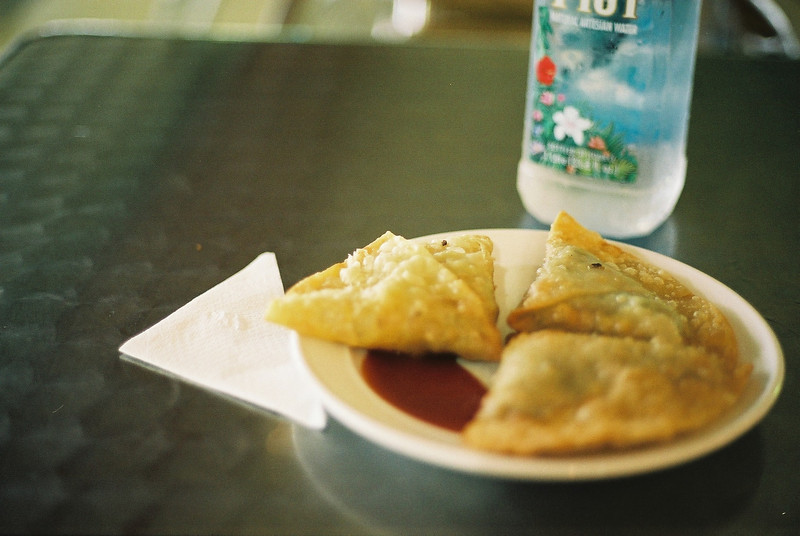 Samosas at the airport