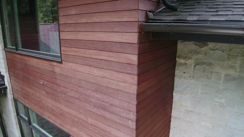 Massaranduba Wood Siding Installation  - Highland Park IL