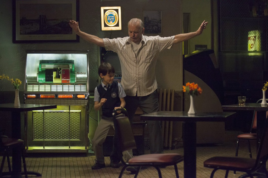 """. This image released by The Weinstein Company shows Bill Murray, right, and Jaeden Lieberher in a scene from the film, \""""St. Vincent.\"""" Murray was nominated for a Golden Globe for best actor in a comedy or musical for his role in the film on Thursday, Dec. 11, 2014. The 72nd annual Golden Globe awards will air on NBC on Sunday, Jan. 11.  (AP Photo/The Weinstein Company, Atsushi Nishijima)"""