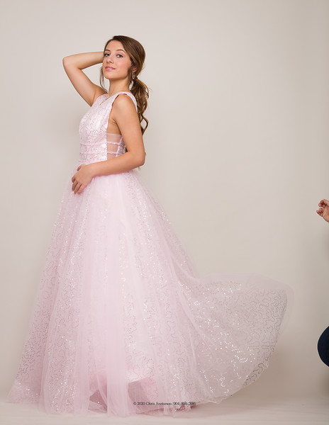 Pink Flowing Gown