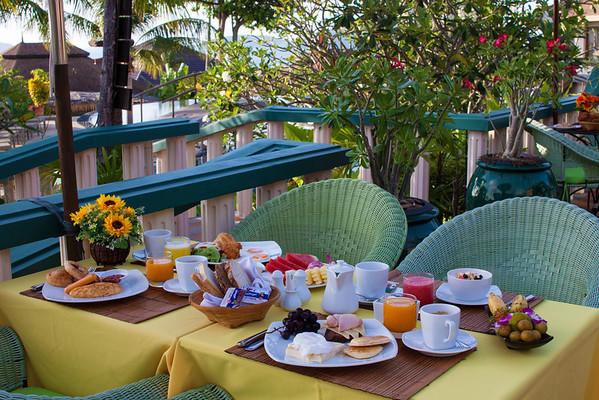 Breakfast Selection & Morning Views at Mangosteen