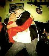 joe gets a kiss from landlady of Cunning Corner on his birthday!