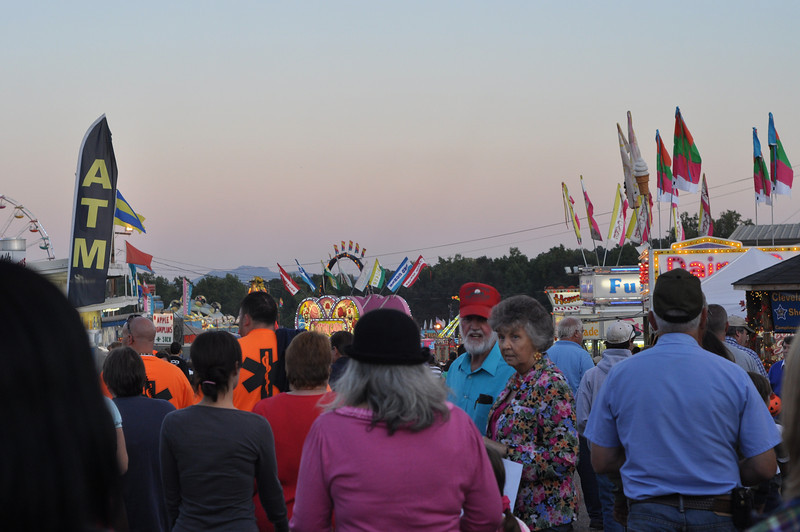 Friday night at the Clevland County Fair, the largest county fair in the state