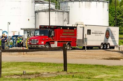 06-07-18 L.E.P.C. holds a Mock Hazmat Spill