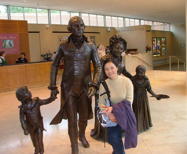 Mount Vernon museum, with George Washington, his wife, Martha Custis Washington and their two children  http://en.wikipedia.org/wiki/Martha_Washington