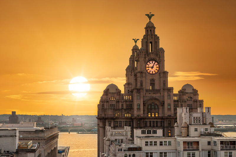 Liverpool Sunset, Royal Liver Building
