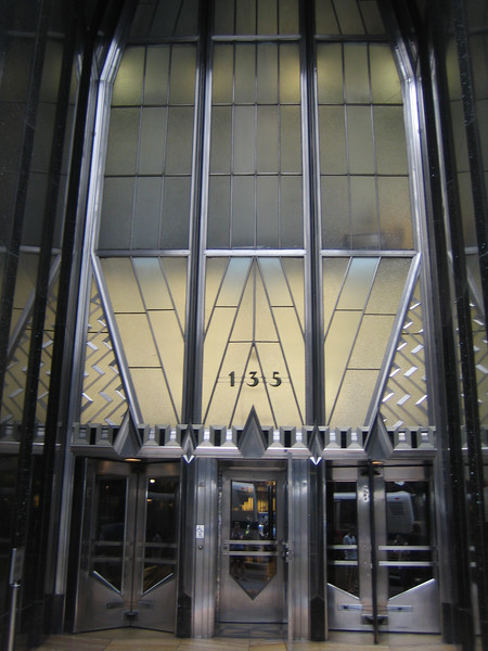 The door of the Chrysler Building