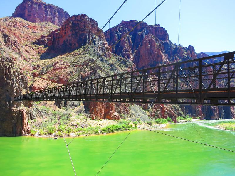 Looking back. .. Both trails & bridges have mule trains.