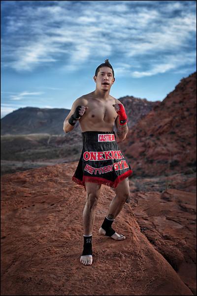 Muay Thai Fighter Anthony Castrejon.