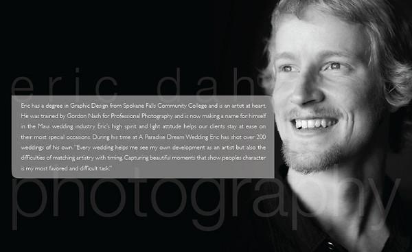 Eric Dahl, Maui Wedding Photographer