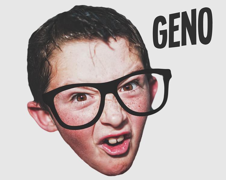 funny geno in glasses