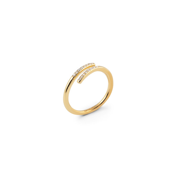 Loop stone ring gold