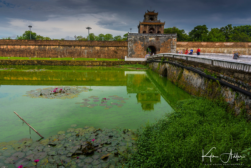 Hue is the ancient imperial capital of the Nguyen Dynasty.  Here we visit the huge citadel that was the heart of the imperial city.
