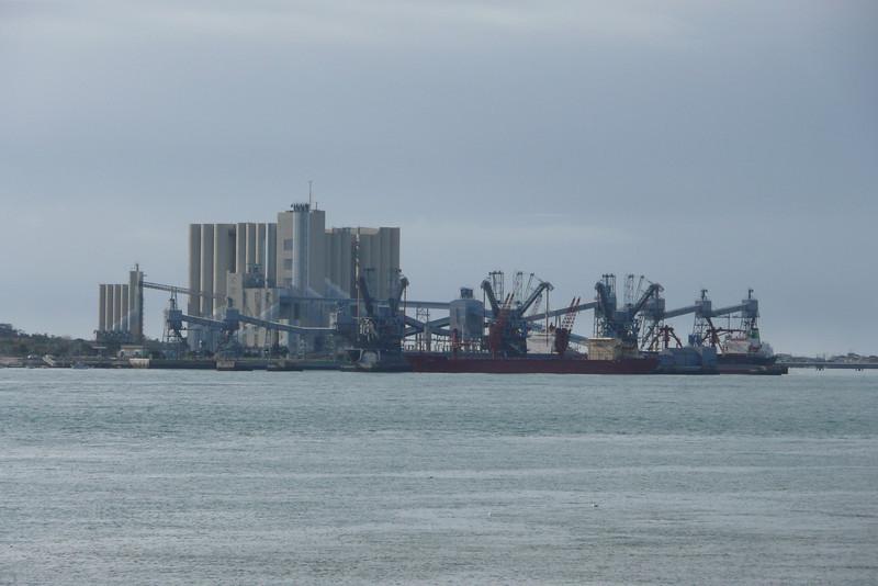 Factory on Rio Tejo. Lisbon