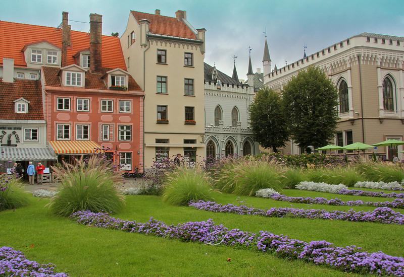 Livu Square (Livu laukums) in Old Town -Riga, Latvia
